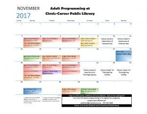 November Adult Programming